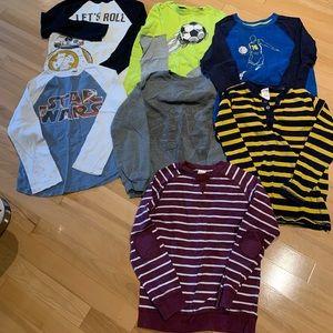 Various Boys Long Sleeve T-Shirts - size (7/8) M